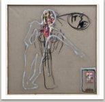 It's me, 2010, akryl, uhel, papír a umělá hmota na plátně, 190x190 cm