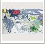 9947513/Sedící Bernarda, 1993, akryl , uhel, fotokopie na plátně, 175x300cm