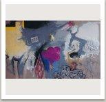 Křídlo se zmrzlinou, 1993, akryl, uhel, umělá hmota a fotokopie na plátně, 175x300cm