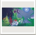 Líbezné trauma, 1992, akryl a uhel na plátně, 175x300cm