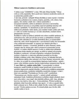 Milena Lamarová: Knížákovo univerzum 1/4