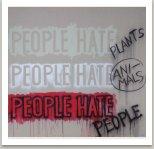 HATE, 2017, akryl, sprej na plátně, 190x190 cm