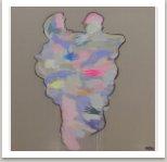 Kus nekonečna, 2017, akryl a uhel na plátně, 190x190 cm