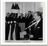 třetí jmenování Milana Knížáka rektorem Akademie výtvarných umění,  25.1.1994