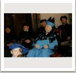 Rektor při promocích v aule Anežského kláštera
