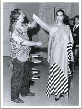 Galerie studio Alchymia, z módní přehlídky, 1986