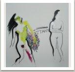 Vztahy, 2020, akryl a uhel na plátně, 190x190 cm